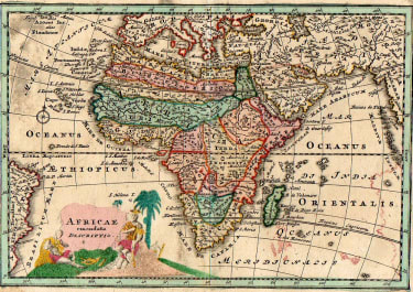 WEIGEL RARE SMALL MAP OF AFRICA