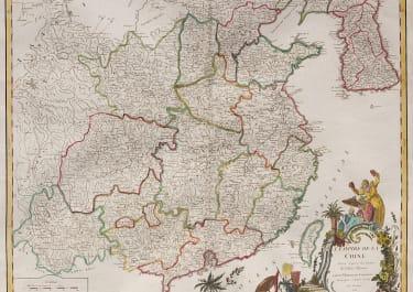 VAUGONDY    ATTRACTIVE FOLIO MAP OF CHINA