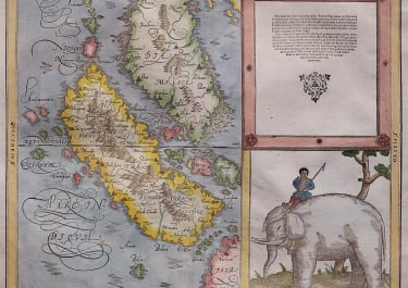 MUNSTER  EARLY MAP OF MALAYSIA AND SUMATRA