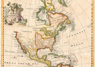 THOMAS JEFFERYS MAP OF NORTH AMERICA
