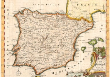 SPAIN THOMAS JEFFERYS MAP OF SPAIN AND PORTUGAL