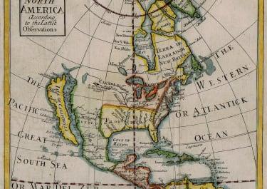 SENEX MAP OF NORTH AMERICA WITH CALIFORNIA AS AN ISLAND