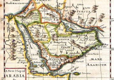 MORDEN SCARCE ENGLISH MAP OF ARABIA