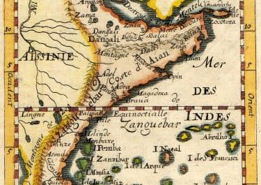 MALLET MAP OF EAST AFRICA  ZANZIBAR TO KENYA