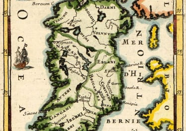 MALLET MAP OF IRELAND 1683