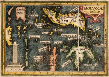 BERTIUS MAP OF THE MOLUCCAS OR MALUKA ISLANDS