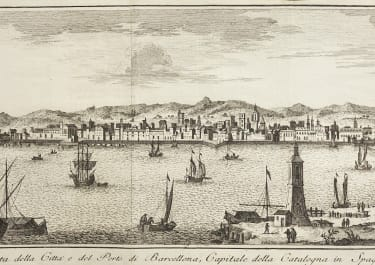 SALMON  VIEW OF BARCELONA  1740