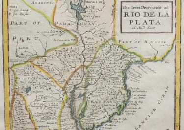 MOLL MAP OF LA PLATA    URAGUAY   TUCUMANIA