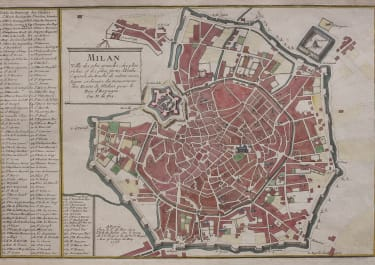 MILAN  MILANO  PLAN BY DE FER 1705