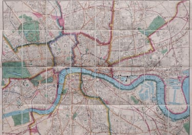CRUCHLEYS SUPERB MAP OF LONDON