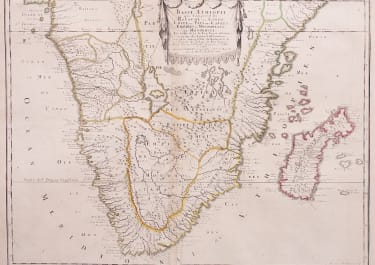 SANSON RARE FOLIO MAP OF SOUTHERN AFRICA
