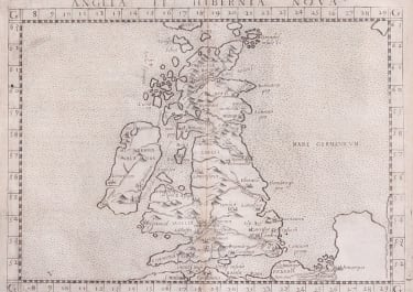 RUSCELLI  1561 MODERN MAP OF BRITISH ISLES