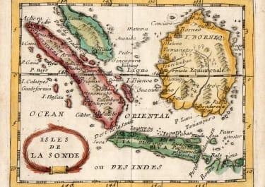 DU VAL MAP OF BORNEO JAVA SUMATRA