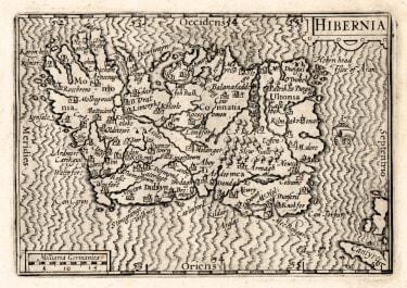 RARE VISSCHER MAP OF IRELAND