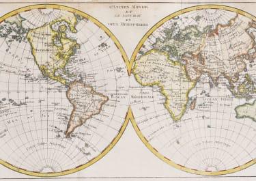 BONNE  THE WORLD IN HEMISPHERES