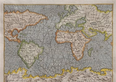 MARINERS WORLD MAP SIXTEENTH CENTURY