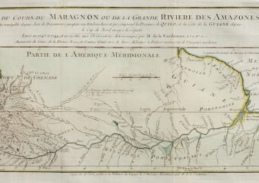 CHART OF THE AMAZON  BY M DE LA CONDAMINE