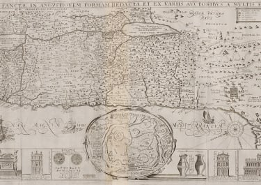 TIRINIUS   SCARCE SOUGHT MONUMENTAL  MAP OF HOLY LAND