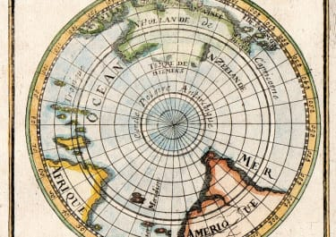MALLET MAP OF SOUTH POLE 1685