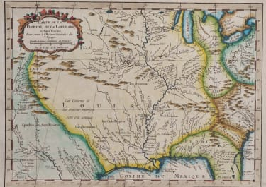 BELLIN MAP OF LOUISIANA FLORIDA AND MISSISSIPPI