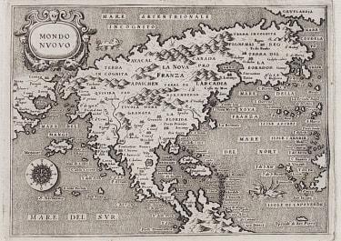 NORTH AMERICA MONDO NUOVO 1575