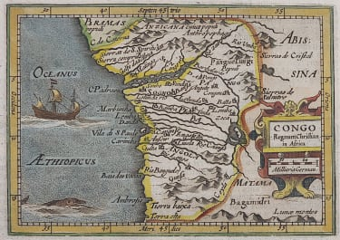 BERTIUS MAP OF THE CONGO
