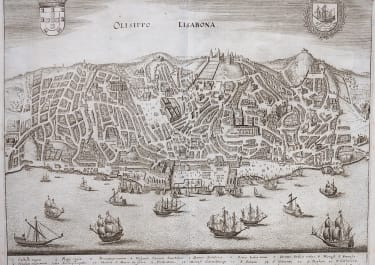 MERIAN'S STUNNING PLAN  VIEW OF LISBON