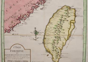 SCARCE MAP OF TAIWAN FORLOSA
