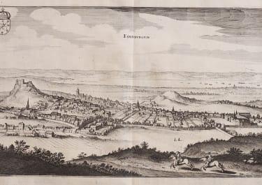 MERIAN VIEW OF EDINBURGH 1640
