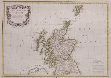 LATTRE BONNE MAP OF SCOTLAND 1787