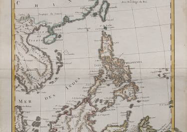 BONNE'S MAP OF PHILIPPINES BORNEO JAVA