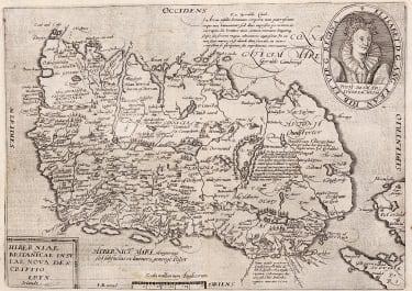 QUAD'S SCARCE MAP OF IRELAND   1608