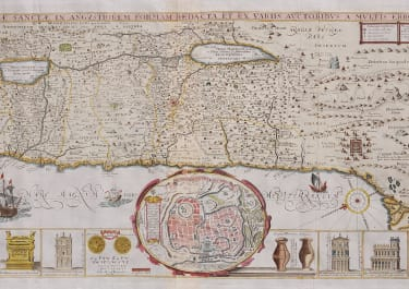 TIRINIUS SCARCE SOUGHT AFTER  MONUMENTAL MAP OF HOLY LAND