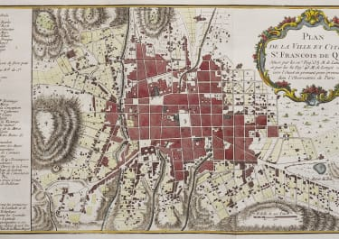 BELLIN'S RARE PLAN OF QUITO  ECUADOR