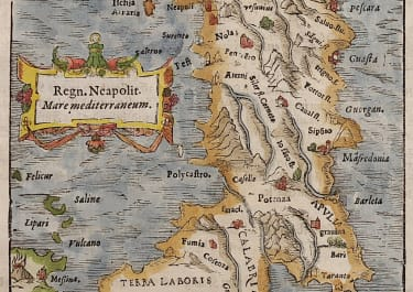 MUNSTER'S MAP OF SOUTHERN ITALY