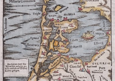 MUNSTER'S EARLY MAP OF HOLLAND  1558