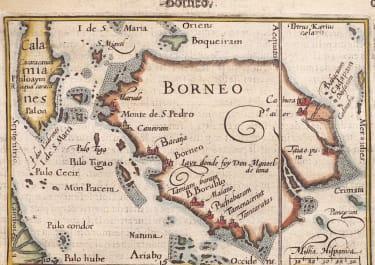 BORNEO   BY LANGENES BERTIUS  1602