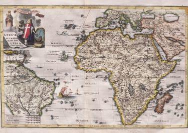 SCHERER'S SCARCE MAP OF AFRICA    1699