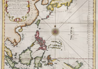BELLIN'S MAP OF PHILIPPINES, JAPAN, BORNEO TAIWAN