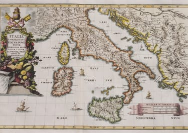 SCHERE'S MAP OF ITALY  1699