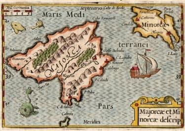 MAJORCA  MINORCA  MALLORCA    LANGENES BERTIUS 1602