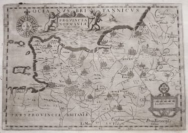 RARE MONTECALERIO MAP OF NORMANDY