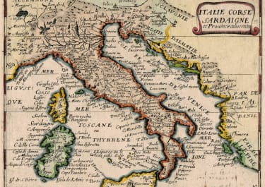 RARE JOLLIAN MAP OF ITALY
