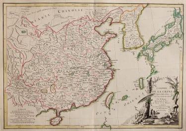 LATTRE  BONNE MAP OF CHINA