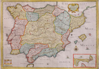 TASSIN RARE FOLIO MAP OF SPAIN