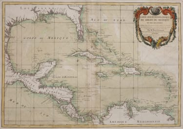 SEA CHART OF THE WEST INDIES  ORIGINAL COLOUR 1772