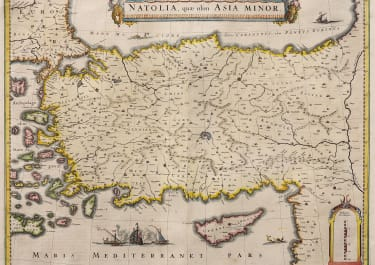 BLAEU MAP OF TURKEY