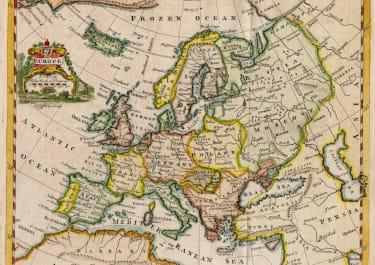 THOMAS JEFFERYS MAP OF EUROPE