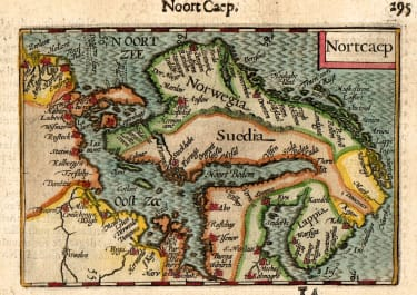 SCANDINAVIA   EARLY LANGENES MAP 1600
