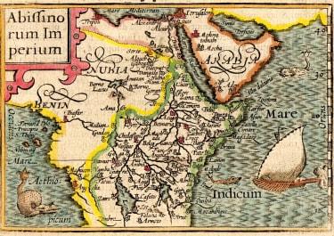 LANGENES MAP OF EAST AFRICA